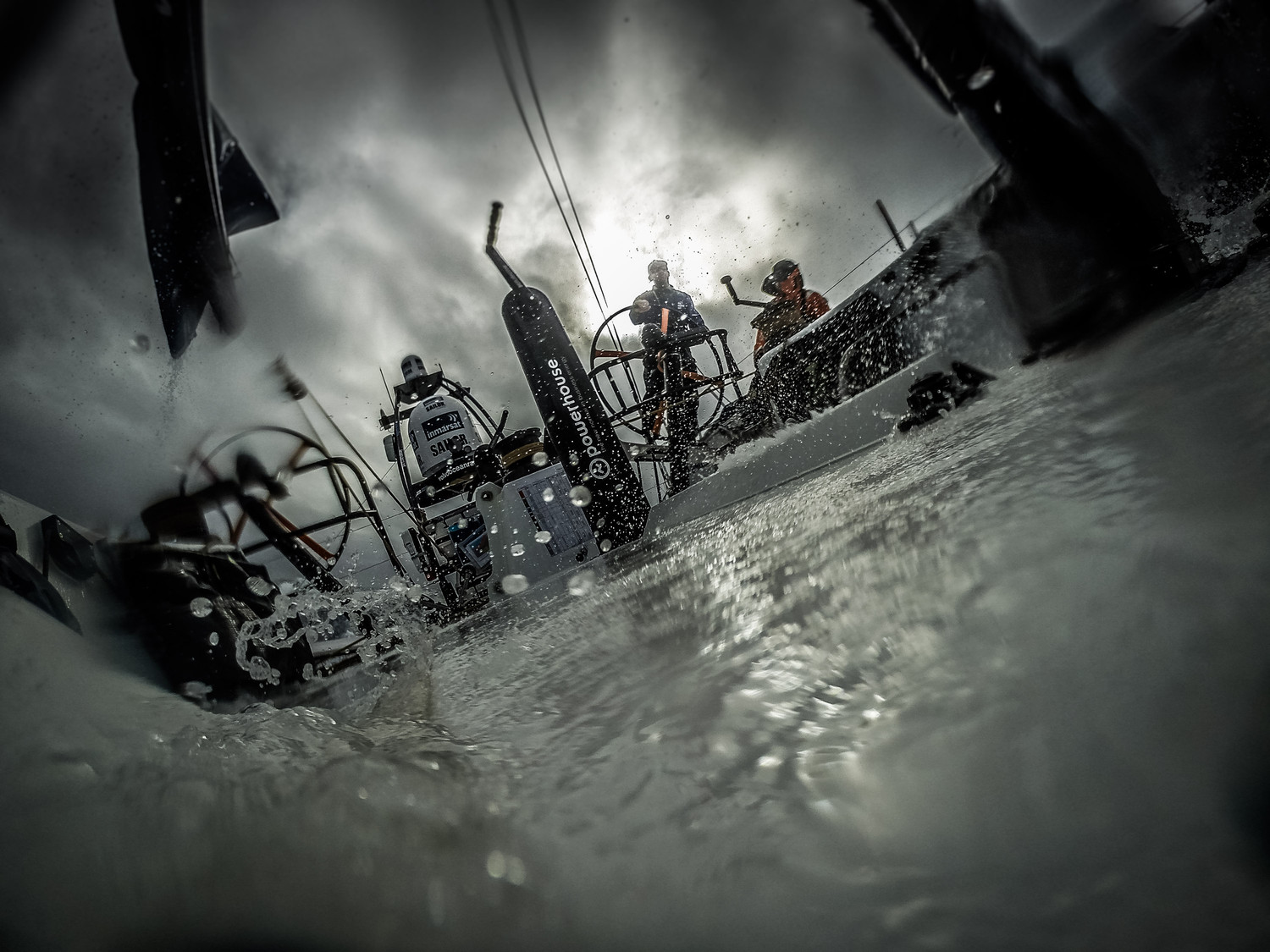 A new transition awaits today as we cross a front, its wet and wild on deck again. What it would look like if you were a worm on deck