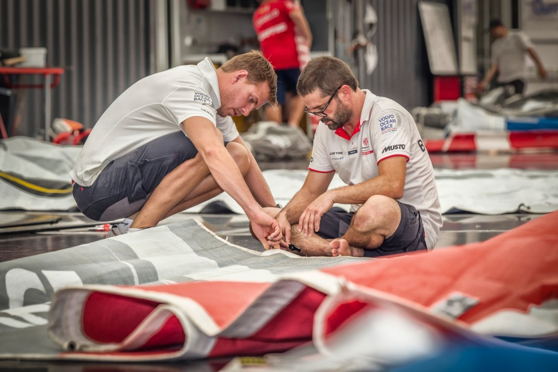 2014-15, Boatyard, Brazil, Dongfeng Race Team, Itajai, Village, Volvo Ocean Race, maintenance, sail
