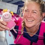 2014-15, VO65, VOR, Volvo Ocean Race, Leg5, sailing, Team SCA, Arrivals, Itajai, Brazil, stage, prize giving, Sophie Ciszek