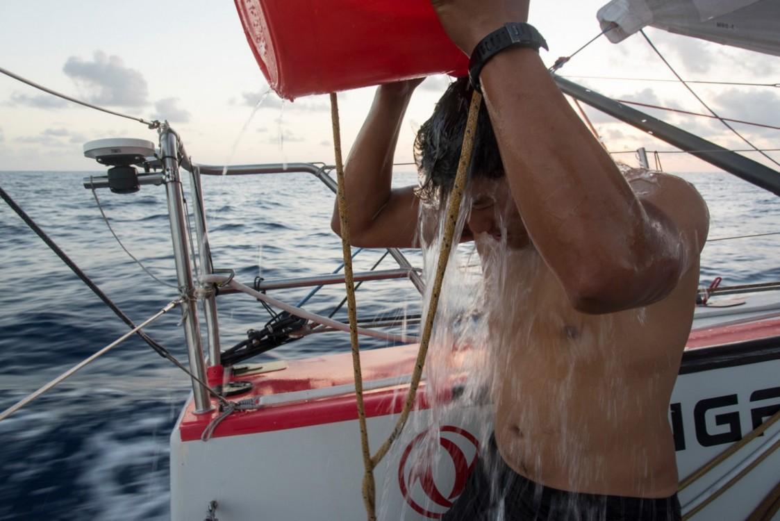 2014-15, Dongfeng Race Team, Leg6, OBR, VOR, Volvo Ocean Race, onboard, life on board, hygiene, shower