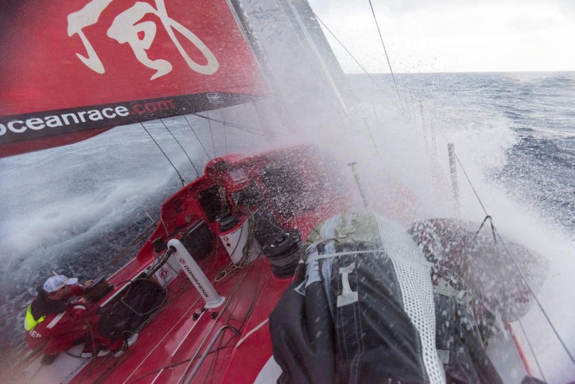 2014-15, Dongfeng Race Team, Leg6, OBR, VOR, Volvo Ocean Race, onboard, splash, wave
