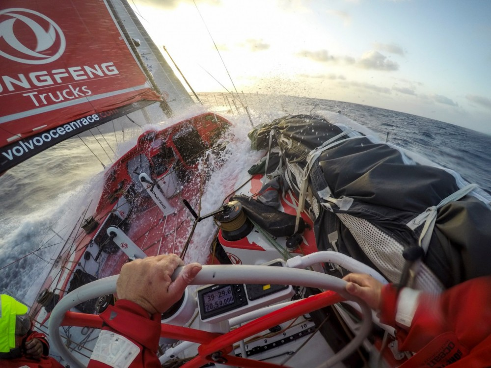 2014-15, Dongfeng Race Team, GoPro, Hero4, Leg6, OBR, VOR, Volvo Ocean Race, onboard, splash, stern