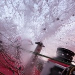 2014-15, Dongfeng Race Team, Leg6, OBR, VOR, Volvo Ocean Race, onboard, Liu Xue, Black, splash, wet
