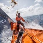 2014-15, Leg6, OBR, ONBOARD, TEAM ALVIMEDICA, VOR, Volvo Ocean Race, Nick Dana, seaweed, bow, sail, weed, splash