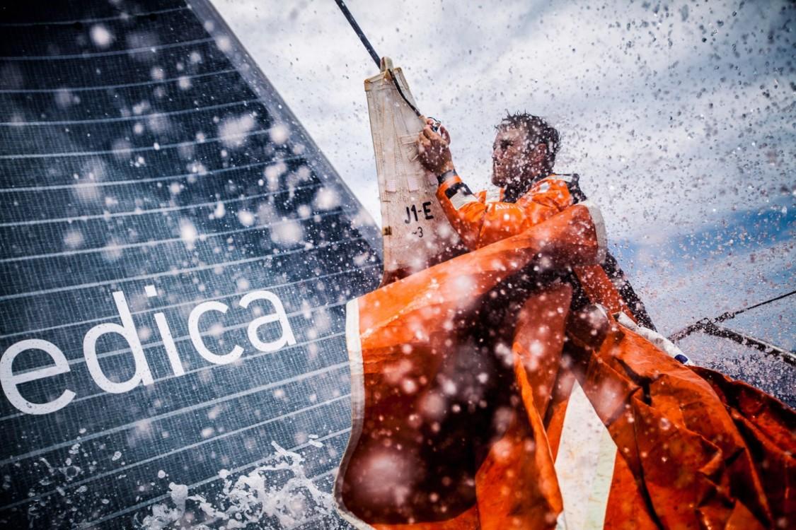 2014-15, Leg6, OBR, ONBOARD, TEAM ALVIMEDICA, VOR, Volvo Ocean Race, Nick Dana, bow, sails