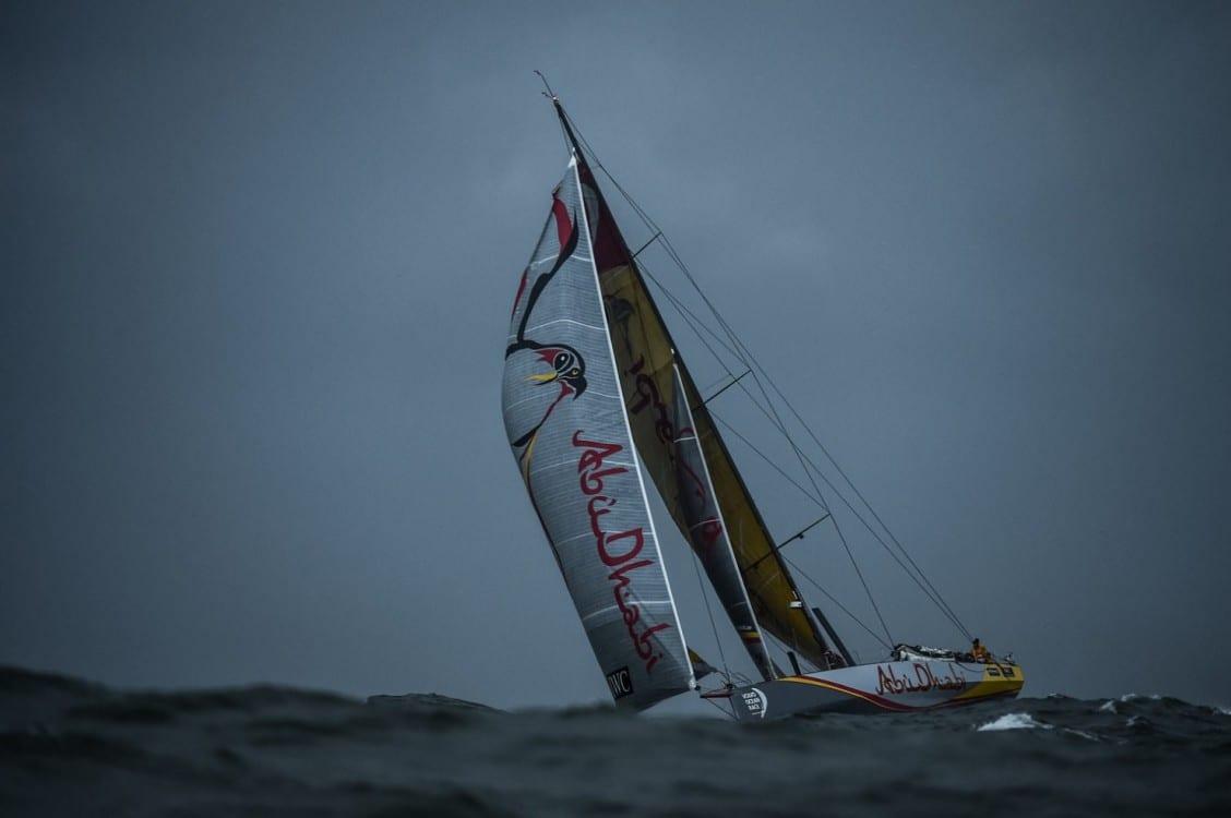 2014-15, VOR, Volvo Ocean Race, Team Alvimedica, Crowd, night, Abu Dhabi Ocean Racing