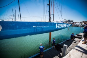 Volvo Ocean Race, VOR, 2014-15, Team Vestas Wind, back, lisbon, boatyard