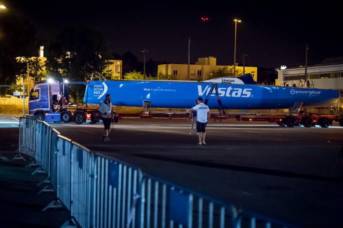 2014-15, Leg7, Lisbon, Stopover, VOR, Volvo Ocean Race, arrival, Team Vestas Wind, Truck