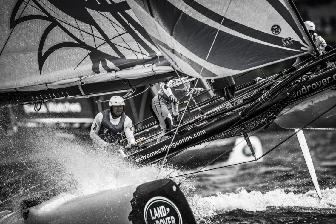 Act4, Aleksey Kulakov, Alexander Bozohko, Cardiff, Day4, ESS, Extreme Sailing Series, Fleet, Garth Ellingham, Gazprom, Igor Lisovenko, Multihull, Phil Robertson, Stadium Racing, UK