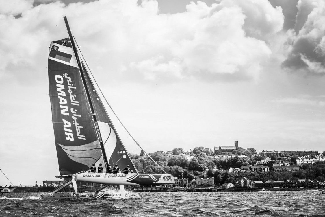Act4, Ali Al Balashi, Cardiff, Day4, ESS, Ed Powys, Extreme Sailing Series, Fleet, Multihull, Nic Asher, Oman Air, Stadium Racing, Stevie Morrison, Ted Hackney, UK