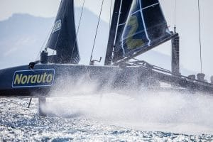 Adam Minoprio Arnaud Jarlegan Matthieu Vandame Nicolas Heintz Thierry Douillard, GC 32, GC 32 Racing Tour, GC 32 SOTOGRANDE, Multihull, NORAUTO, Sotogrande, catamarans, foil