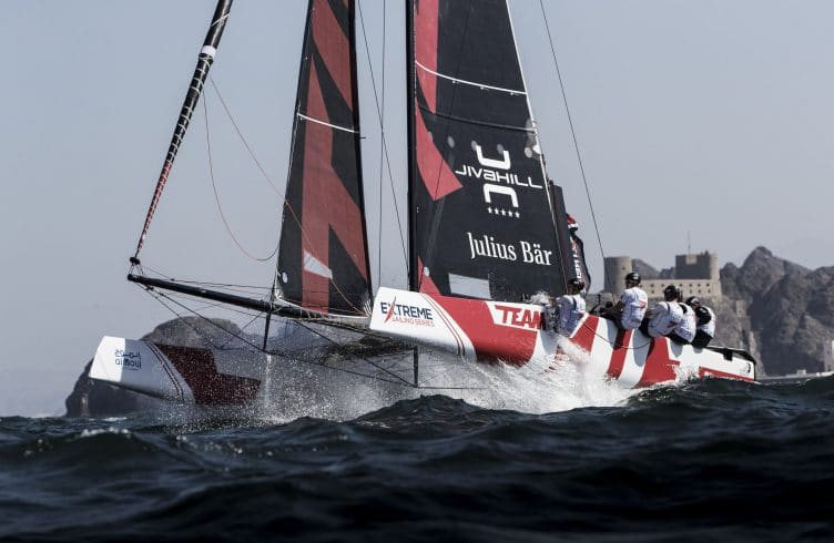 The Extreme Sailing Series, Sailing, Multihull, Foiling, GC32, Catamaran, Oman, Sultanate of Oman, Mutrah