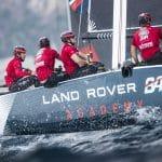 ESS, The Extreme Sailing Series 2017, Mutihull, GC32, Foiling Yacht, Sailing, Foiling, Barcelona, Spain, Yacht Racing, Day4, Land Rover BAR Academy, Rob Bunce, Chris Taylor, Sam Batten, Oli Greber, Adam Kay