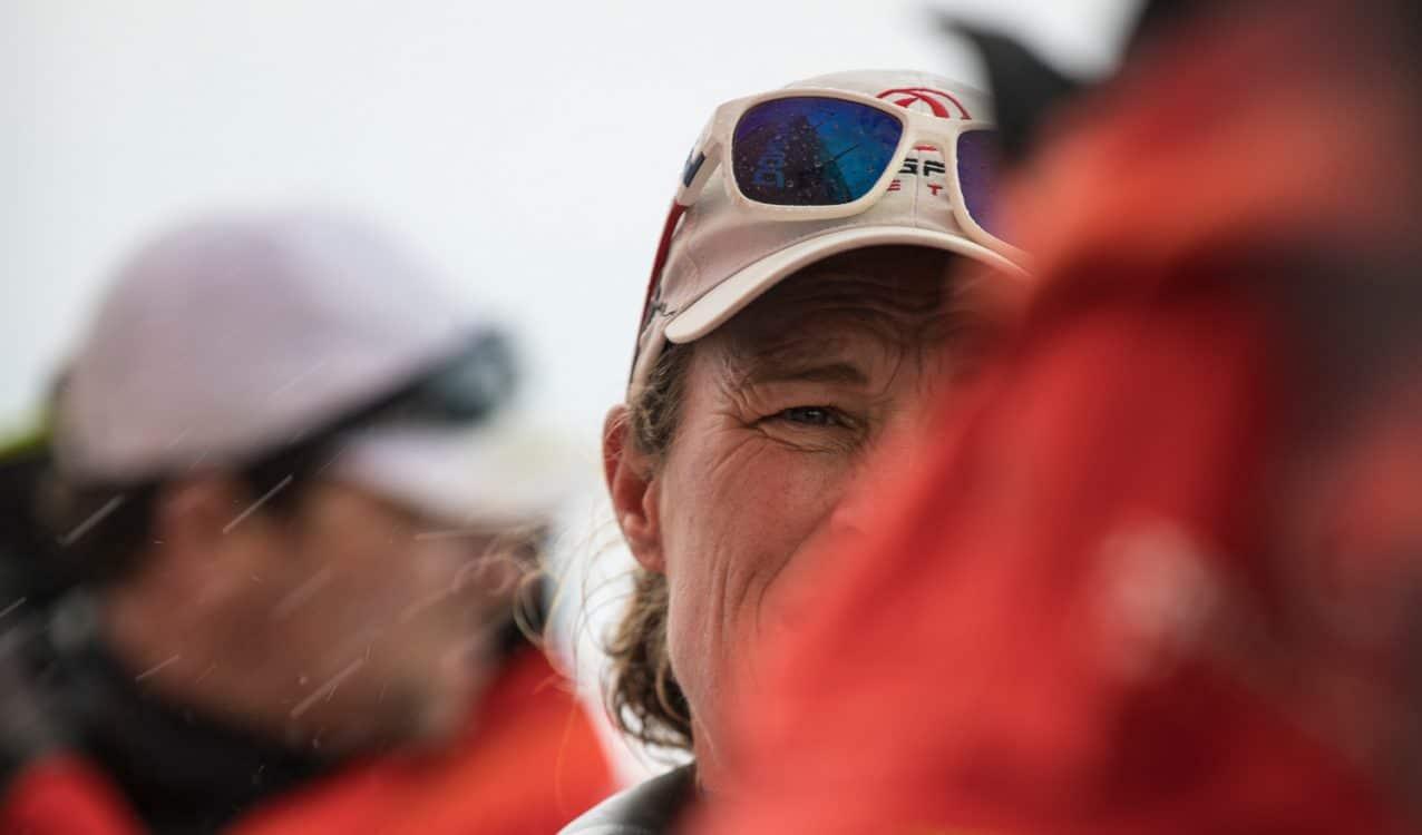 2017-18, Carolijn Brouwer, Detail, Dongfeng, Fastnet Rock, Leg Zero, On board, On-board, Pre-race, Rolex Fastnet Race, crew member