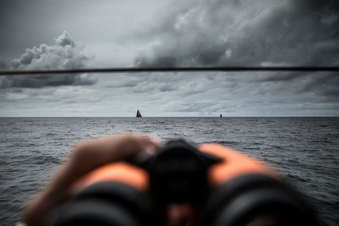 2017-18, Clouds, Detail, Kind of picture, Leg Zero, Nature, On board, On-board, Pre-race, Rolex Fastnet Race, Vestas 11th Hour Racing, binoculars, boat to boat
