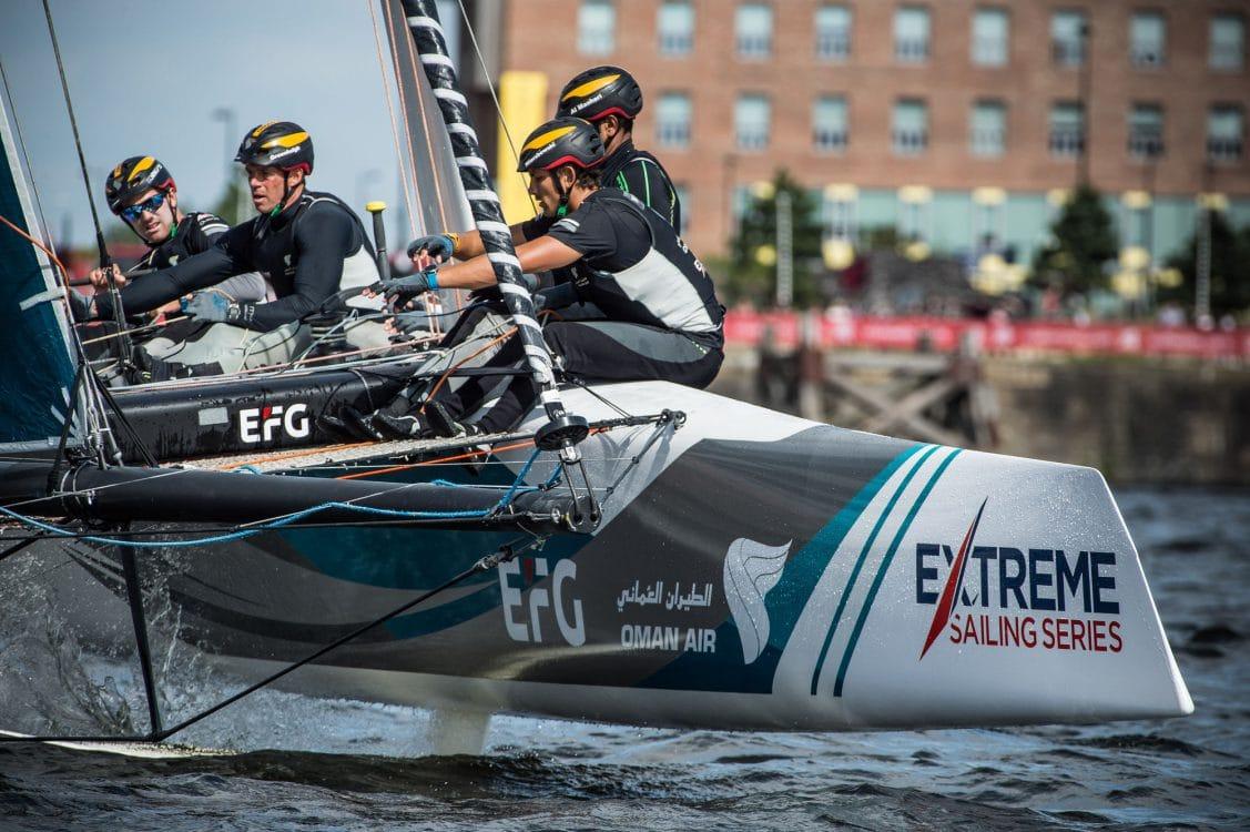 Cardiff, Day2, ESS, Extreme Sailing Series, GC32, Oman Air, Vincent Curutchet