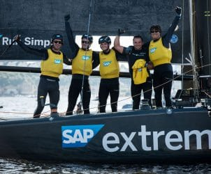 Cardiff, Day4, ESS, Extreme Sailing Series, GC32, SAP Extreme Sailing Team, Vincent Curutchet