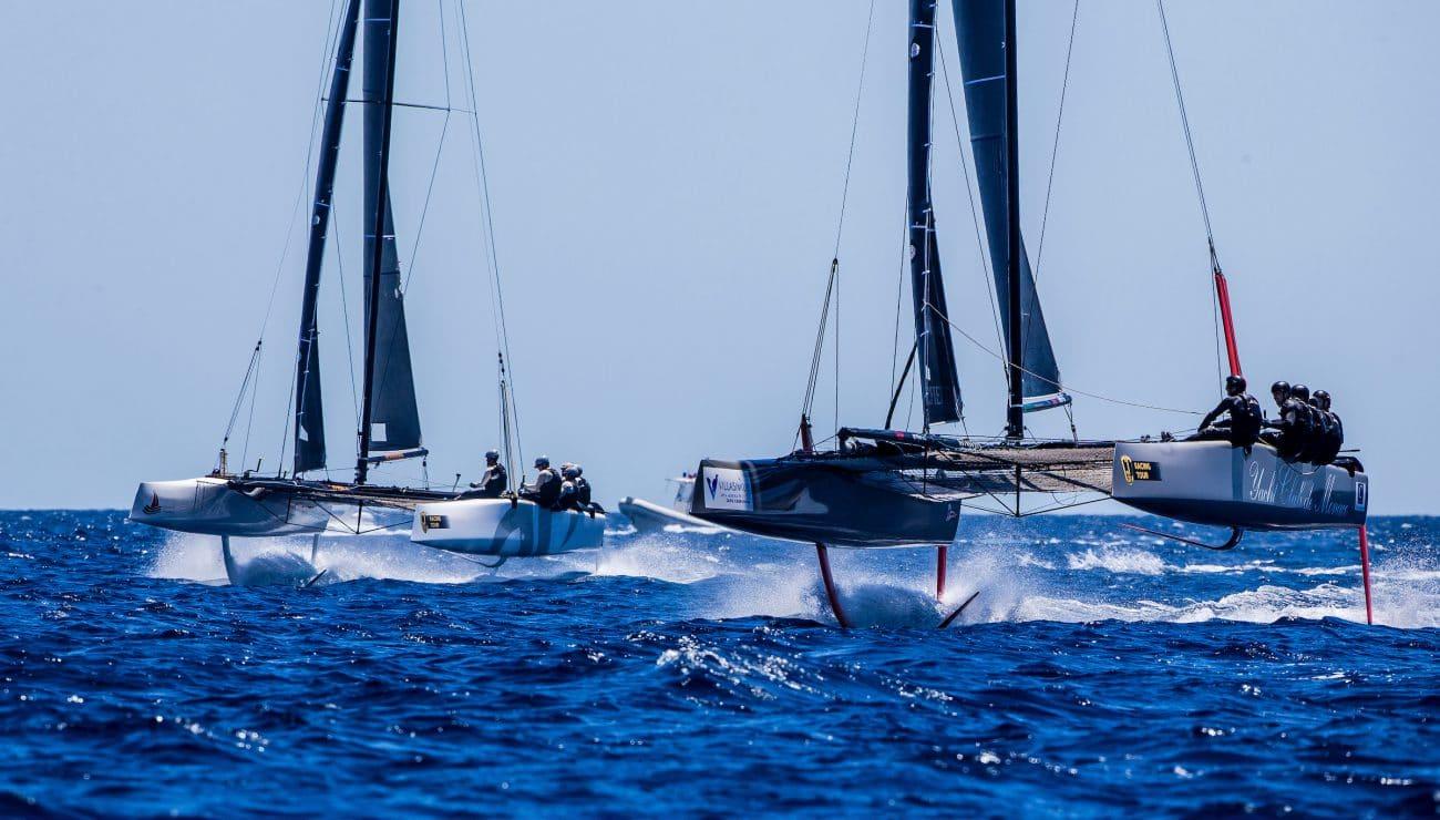 Extreme sailing, Fastest boats, GC32, GC32 Racing Tour, GC32 VILLASIMIUS CUP, MAMMA AIUTO!, Sardinia, TEAM ARGO, Villasimius, catamaran, foiling, foiling catamaran, one design yacht, sailing, speed, yachting