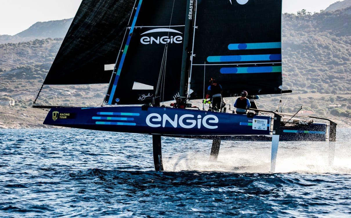 Calvi, Corsica, Extreme sailing, Fastest boats, GC32, GC32 Orezza Corsica Cup, GC32 Racing Tour, TEAM ENGIE, catamaran, foiling, foiling catamaran, one design yacht, sailing, speed, yachting
