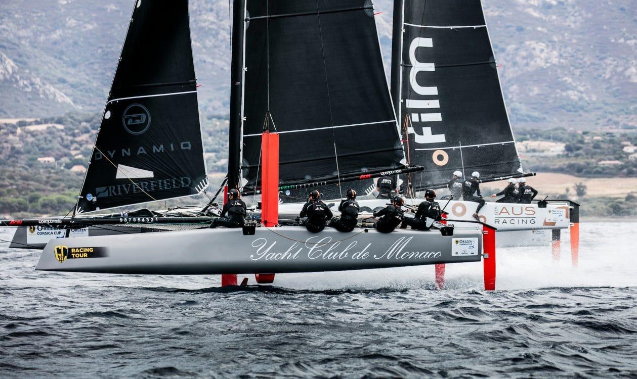 Calvi, Corsica, Extreme sailing, Fastest boats, GC32, GC32 Orezza Corsica Cup, GC32 Racing Tour, MALIZIA - YACHT CLUB DE MONACO, catamaran, foiling, foiling catamaran, one design yacht, sailing, speed, yachting