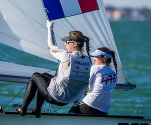 2017, 470 Women, Classes, FRA 22 Cassandre Blandin FRACB56 Aloise Retornaz FRARA10, Jesus Renedo, Olympic Sailing, Sailing Energy, World Sailing, World Sailing's 2017 World Cup Series Miami