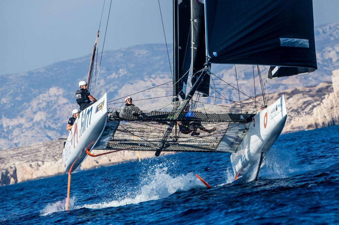 .FILM RACING, Extreme sailing, Fastest boats, GC32, GC32 MARSEILLE ONE DESIGN, GC32 Racing Tour, Marseille, catamaran, foiling, foiling catamaran, one design yacht, sailing, speed, yachting