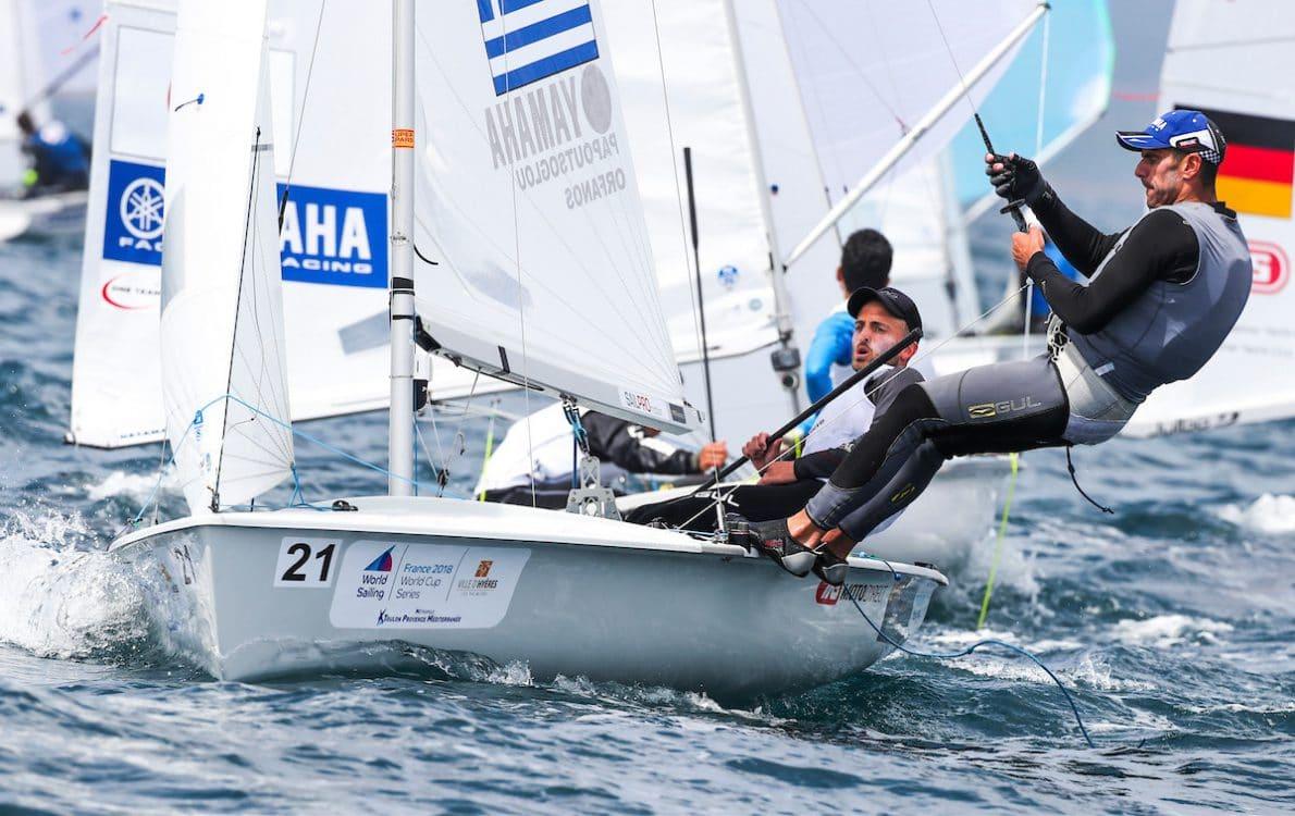 470 M, CLASSES, GRE 10 21 Vasilis Papoutsoglou (M) Ioannis Orfanos 470 Men, Olympic Sailing, Sailing Energy, World Cup Series Hyeres, World Sailing